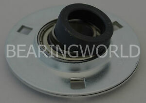 "NEW SAPF202-10 High Quality 5/8"" Eccentric Pressed Steel 3-Bolt Flange Bearing"