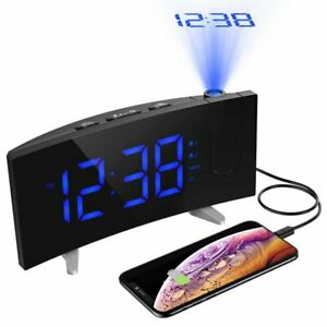 Mpow-Digital-Alarm-Clock-Projection-LED-Dual-Alarms-SNOOZE-USB-Charging-Port