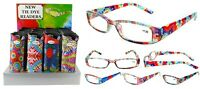 Tie Dye Pattern Plastic Fashion Reading Glasses With Pouch + Free Gift