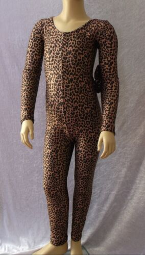 CHEETAH CATSUIT LONG SLEEVE AGE 9-10 YEARS