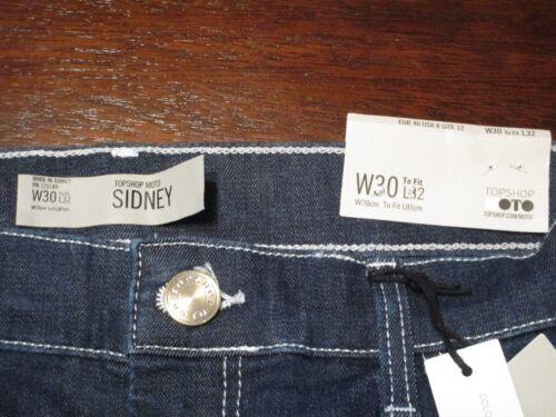 vita 5045438059409 Sidney media W30 X Topshop caviglia con taglio a Moto denim Jeans alla Nwt in Taglia aXEqF