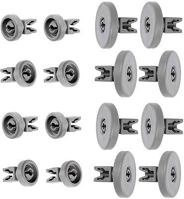 Bottom Upper for ZANUSSI Dishwasher Grey Basket Wheels Top Lower 40mm 25mm