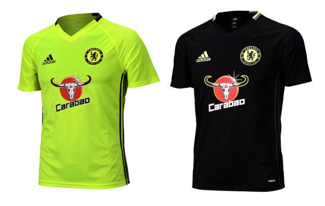 adidas Chelsea FC 2016-2017 Training Soccer Jersey Brand New Volt