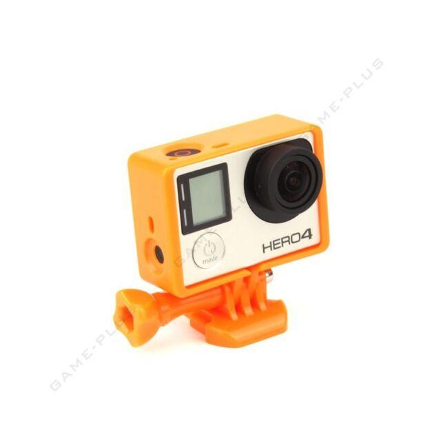 Standard Frame Border Mount Cover Protective Case for GoPro Hero 3 3+ 4 Orange