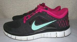 watch 48a0c ff04b Details about Nike Free Run 3 Womens Size 7.5 Black Pink Running Training  Shoes 510643-036