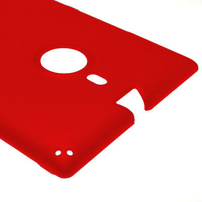 Red Case For Nokia Lumia 1520 Hard Rubberized Snap On Phone Cover
