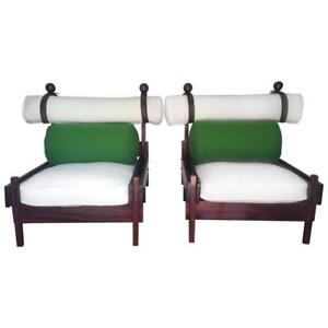 Genial Image Is Loading Pair Of Tonico Rosewood Chairs By Sergio Rodrigues