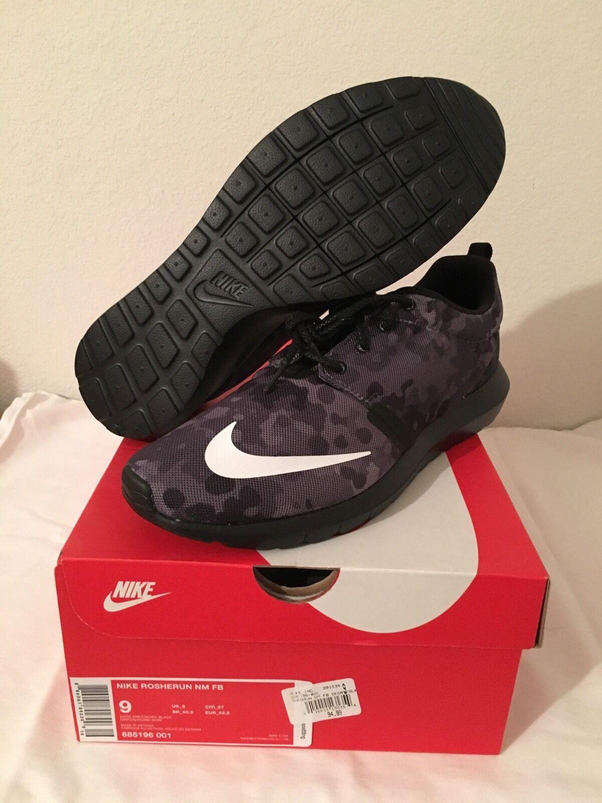 Men's Size Nike Rosherun NM FB Size Men's 8.5 685196 001 e5289d