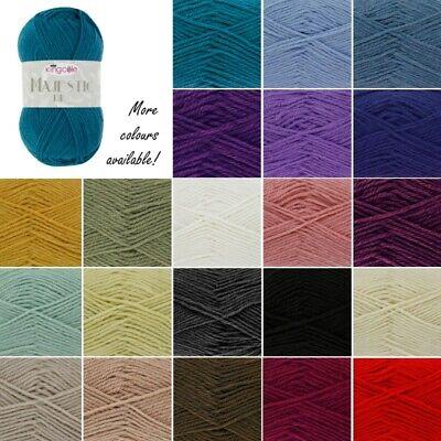 King Cole MAJESTIC DK Knitting Wool Yarn 50g 2656 Burnt Orange