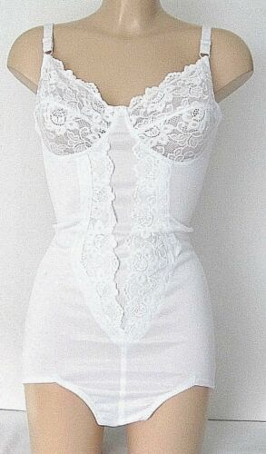 Passfit White Panty Corselette Style 49563 Size 40E or 42C