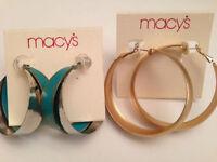 Brand - Macy's Jewelry Hoop Earrings Set Of 2 - Free Shipping