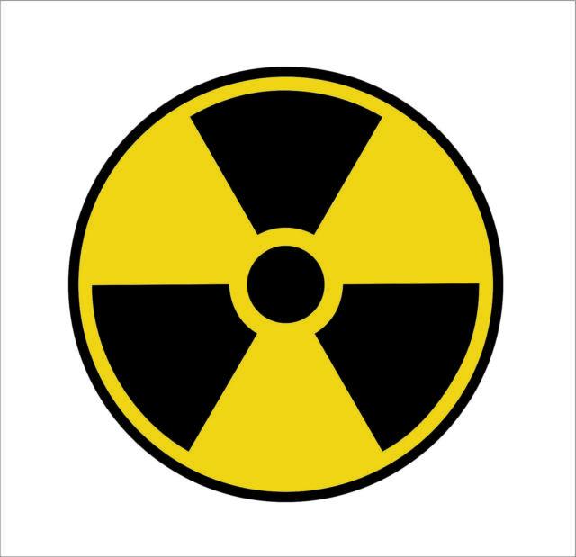 nuclear radiation sign warning symbol bio hazard sticker nuke