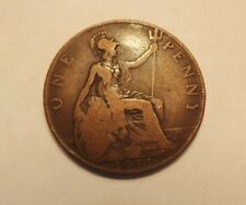 Old Collectible Bronze Britain England 1 Penny Dated 1911 King George V