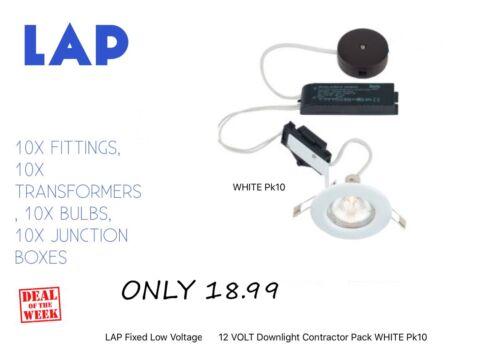 Lap fixe Basse Tension 12 V Downlight entrepreneur Pack Blanc Pk10 seulement 18.99