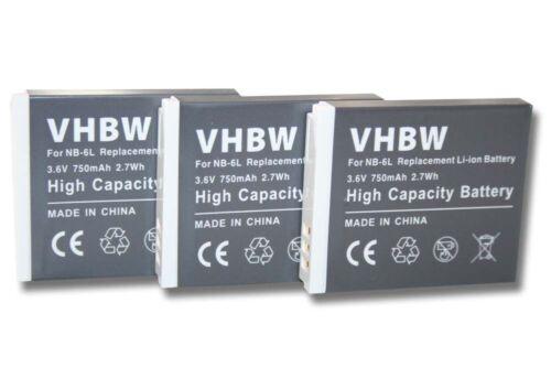 SX600 HS ACCU 3x Batería para Canon Powershot SX520 HS