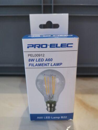 Bulb 2700K light 15,000 hours 8w watt LED A60 Filament Lamp B22 A+