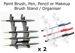2x Paint Brush Paintbrush Makeup Pen Pencils Display Rack Organiser Holder Stand