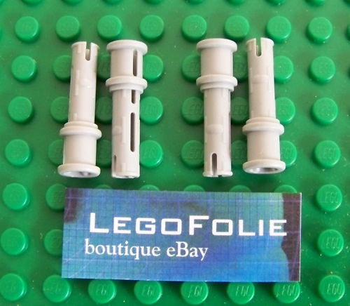 4 x  Lego Technic 32054  Pin Long  with Friction light gray