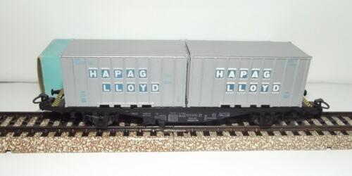 1969 MÄRKLIN MARKLIN H0 box 4659 vagone container condizioni perfette in or