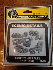 Woodland Scenics HO #205  -  Assorted Junk Piles (10 pi