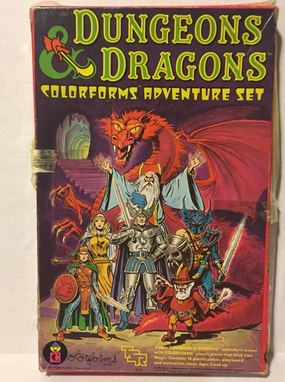 VINTAGE - Dungeons & Dragons colorforms - 1983