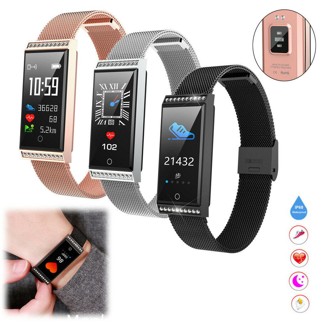 Women Ladies Chic Smart Watch Fitness Tracker Heart Rate Wrist Watch Phone Mate chic Featured fitness heart ladies rate smart tracker watch women wrist