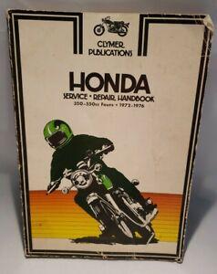 Vintage-1972-1976-Honda-350-550cc-Clymer-Service-Maintenance-Handbook