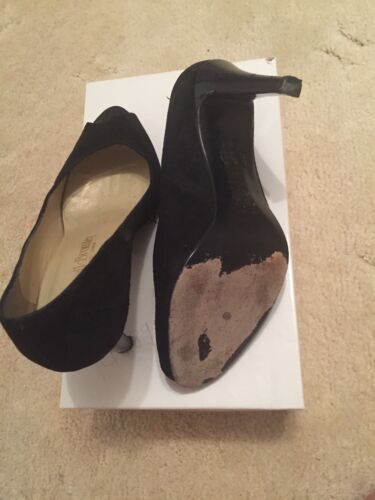 Bromley amp; Suede Black scarpe Size 4 Peep Russel By Toe gr1y0aByq