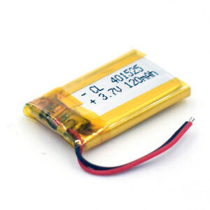Details about 5Pcs 3 7V 120mAh 401525 Rechargeable Li-Polymer Battery for  GPS Bluetooth Camera