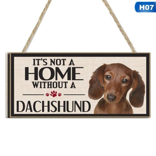 Funny Dog Signs Wooden Plaque Pet Lover Hanging Plaques Home Decoration 10*20cm