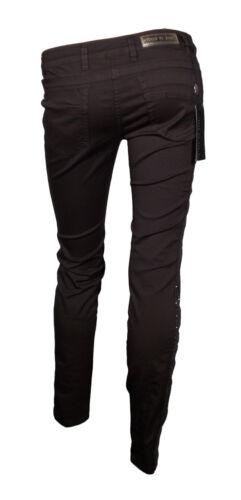 Pantalone  Donna Gamba Stretta fascia Strass Elasticizzati L/'Air de Rien Marrone