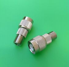USA Seller UHF Female to F Male Connector 10 PCS