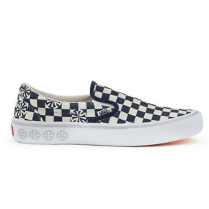 New Mens VANS X INDEPENDENT Checkerboard SLIP ON PRO NAVY US M 7 ... fdfb48123
