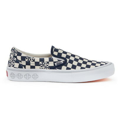 New Mens VANS X INDEPENDENT Checkerboard SLIP ON PRO NAVY US M 7 - 10 TAKSE  | eBay