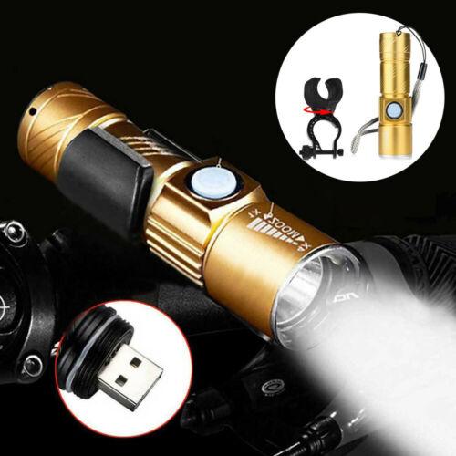 3Modes USB Rechargeable Bicycle Flashlight 200M LED Bike Waterproof Head Light U
