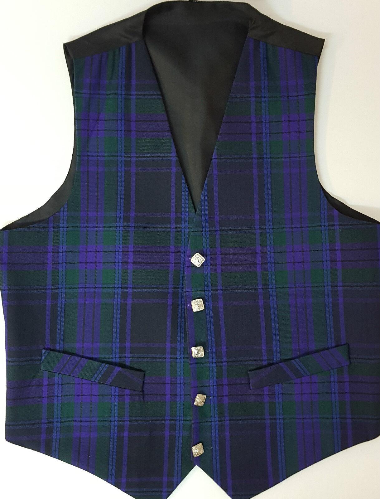 Spirit Of Scotland tartan waistcoat vest 4 Kilts REDUCED to clear