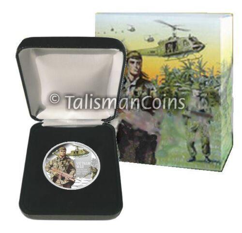 Niue 2012 Vietnam War 50th Anniversary $1 Pure Silver Dollar Proof Bell Huey UH1