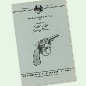 h r starters pistol 960 instructions parts owner manual maintenance rh ebay com Operators Manual User Manual PDF