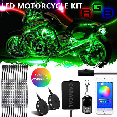 Motorcycle Underglow Accent Lights Kit