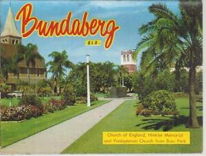 FOLD OUT VIEWS OF BUNDABERG QLD POSTCARD