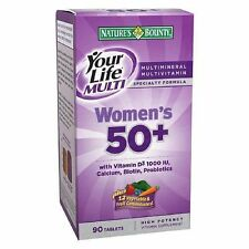 Nature's Bounty Your Life Multi Woman's 50 Plus Vitamins 90 Tablets 115F