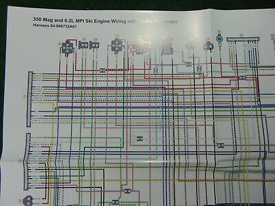 mercruiser 350 mag 6.2 mpi ski engine 14 pin connector wiring harness  diagram | ebay  ebay