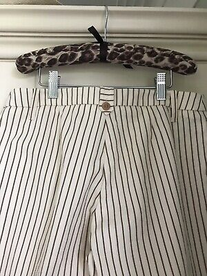 fashion style incredible prices classic styles Mango Wide Leg Trousers , Cream / White/ Brown Stripe, Size 10 | eBay
