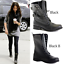 LADIES-WOMENS-COMBAT-ARMY-MILITARY-BIKER-FLAT-HEEL-LACE-BLACK-ANKLE-BOOTS-SIZE