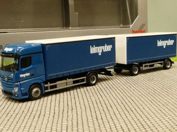 1 87 Herpa MB Actros Bigspace Leimgruber CH rideaux planifier Hz 932981