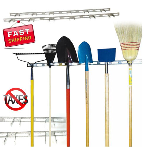Garden Wall Mount Tool Hanger Organizer Garage Storage Rack Handle Durable NEW