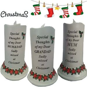 Image Is Loading Christmas New Solar Candle Memorial Flickering Funeral Tribute