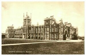 Vintage-postcard-Queens-University-Belfast-Northern-Ireland-W-E-Walton