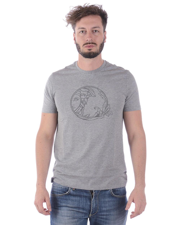T shirt Versace Collection Sweatshirt Cotone  Herren Grigio V800683SVJ00277 V7652