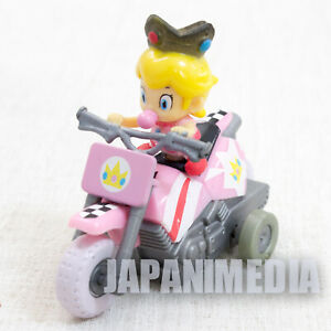 Details About Super Mario Kart Wii Baby Princess Peach Mini Figure Pull Back Car Bike Japan